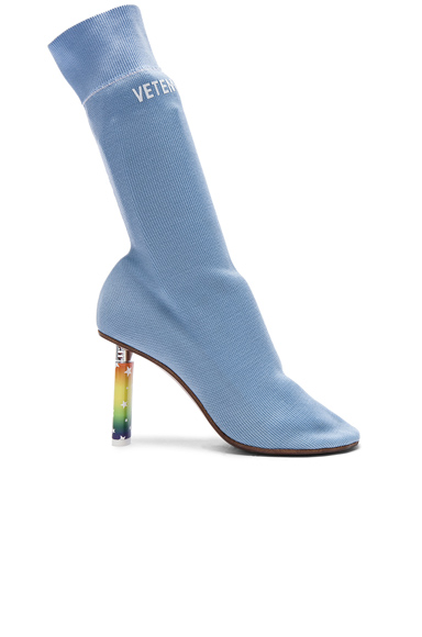 VETEMENTS Sock Ankle Boots in Blue
