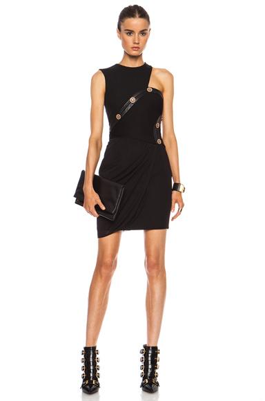 VERSACE | Draped Cut Out Mini Dress in Black