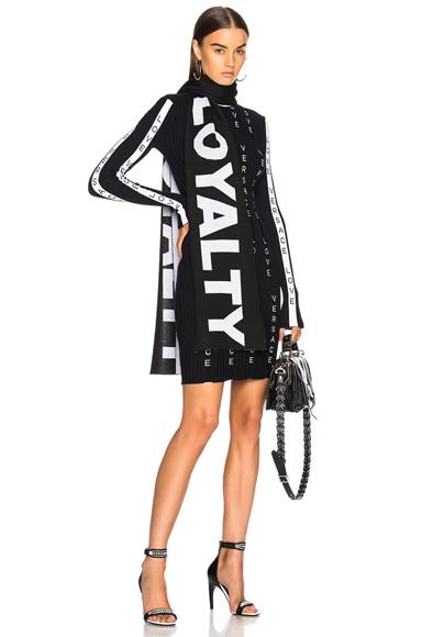 VERSACE Knit Dress in Black, White