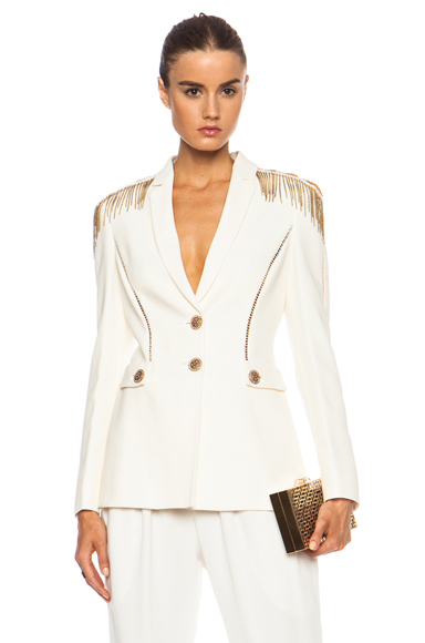 VERSACE | Military Band Blazer in Bianco