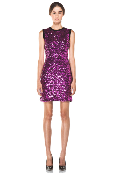 VERSUS | Sequin Tank Dress in Fuchsia