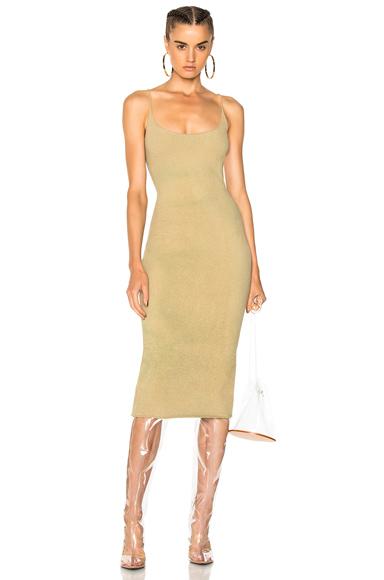 YEEZY Season 4 Boucle Long Dress in Green