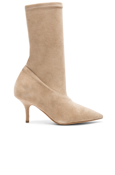 YEEZY Season 5 Suede Ankle Boots in Neutrals