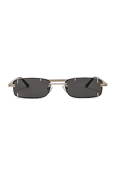 Y/PROJECT | Y/Project Pronged Rectangular Sunglasses In Black. | Goxip