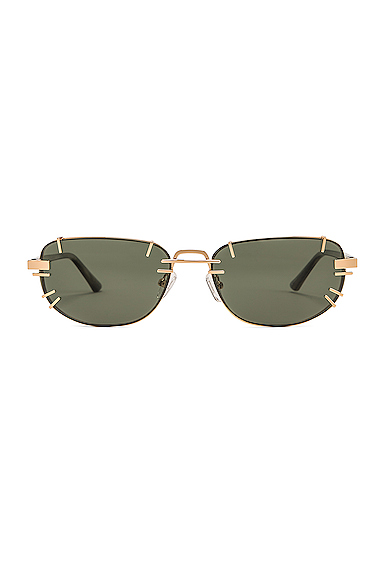 Y/PROJECT | Y/Project Pronged Sunglasses In Black. | Goxip