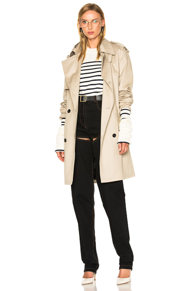 Y Project Trench Coat in Neutrals