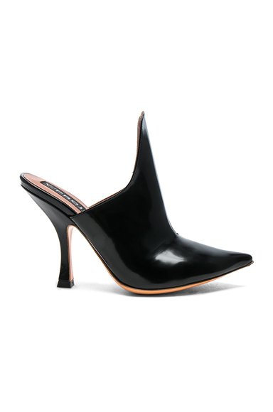 Y Project Leather Stefania Mules in Black