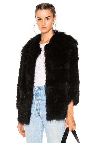 Yves Salomon Marmot Jacket in Black
