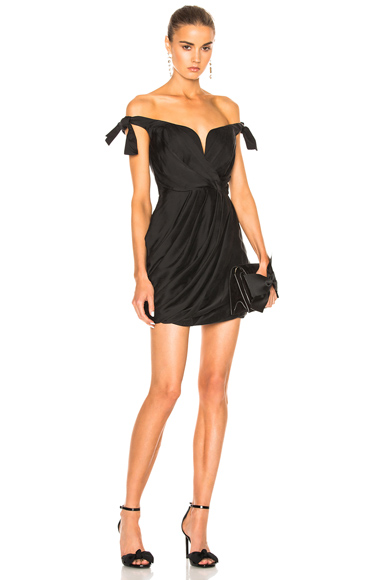 Zimmermann Winsome Drape Cocktail Dress in Black