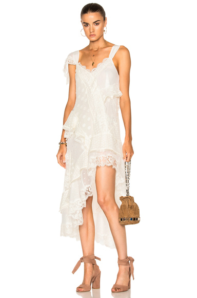 Photo of Zimmermann Bowerbird Lovers Chemise in White online womens dresses sales