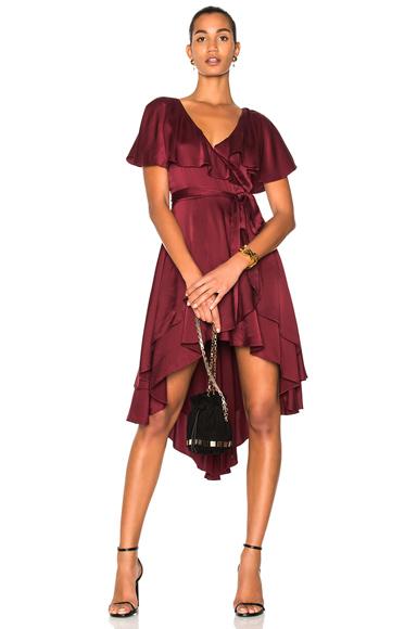 Zimmermann Wrap Dress in Red