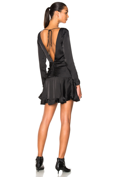 Zimmermann Ruched Mini Dress in Black