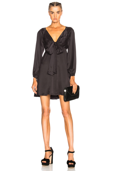 Zimmermann Tie Mini Dress in Black
