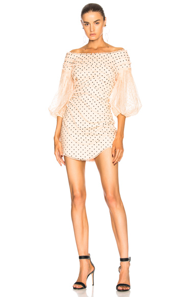 Zimmermann Painted Heart Contour Mini Dress in Pink