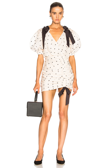 Zimmermann Painted Heart Tie Dress in White