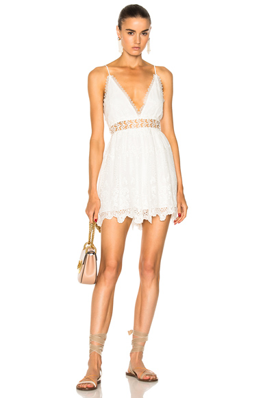 Zimmermann Curacao Crinkle Playsuit in White