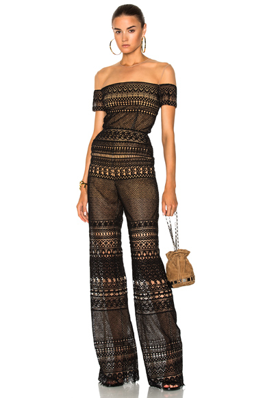 Zuhair Murad Macrame Jumpsuit in Black