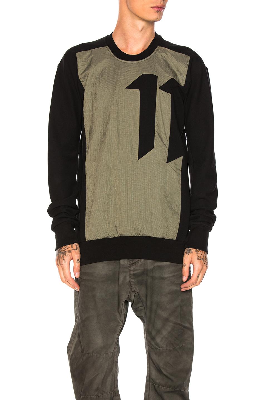11 by Boris Bidjan Saberi Block Cut Shirt in Black,Green