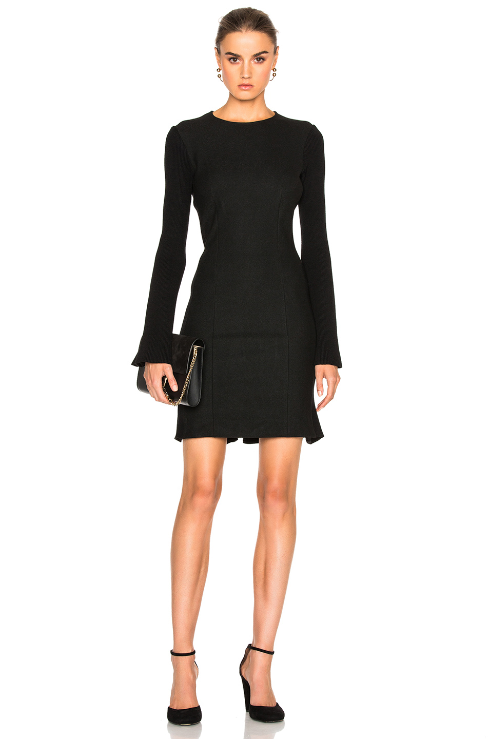 DEREK LAM 10 CROSBY Shift Dress in Black