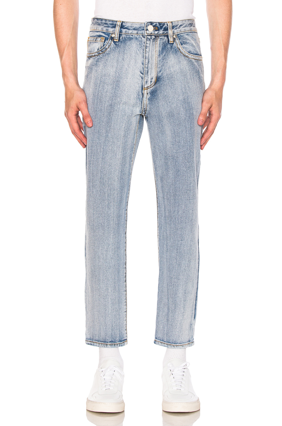3.1 phillip lim Washed Denim Trousers in Blue