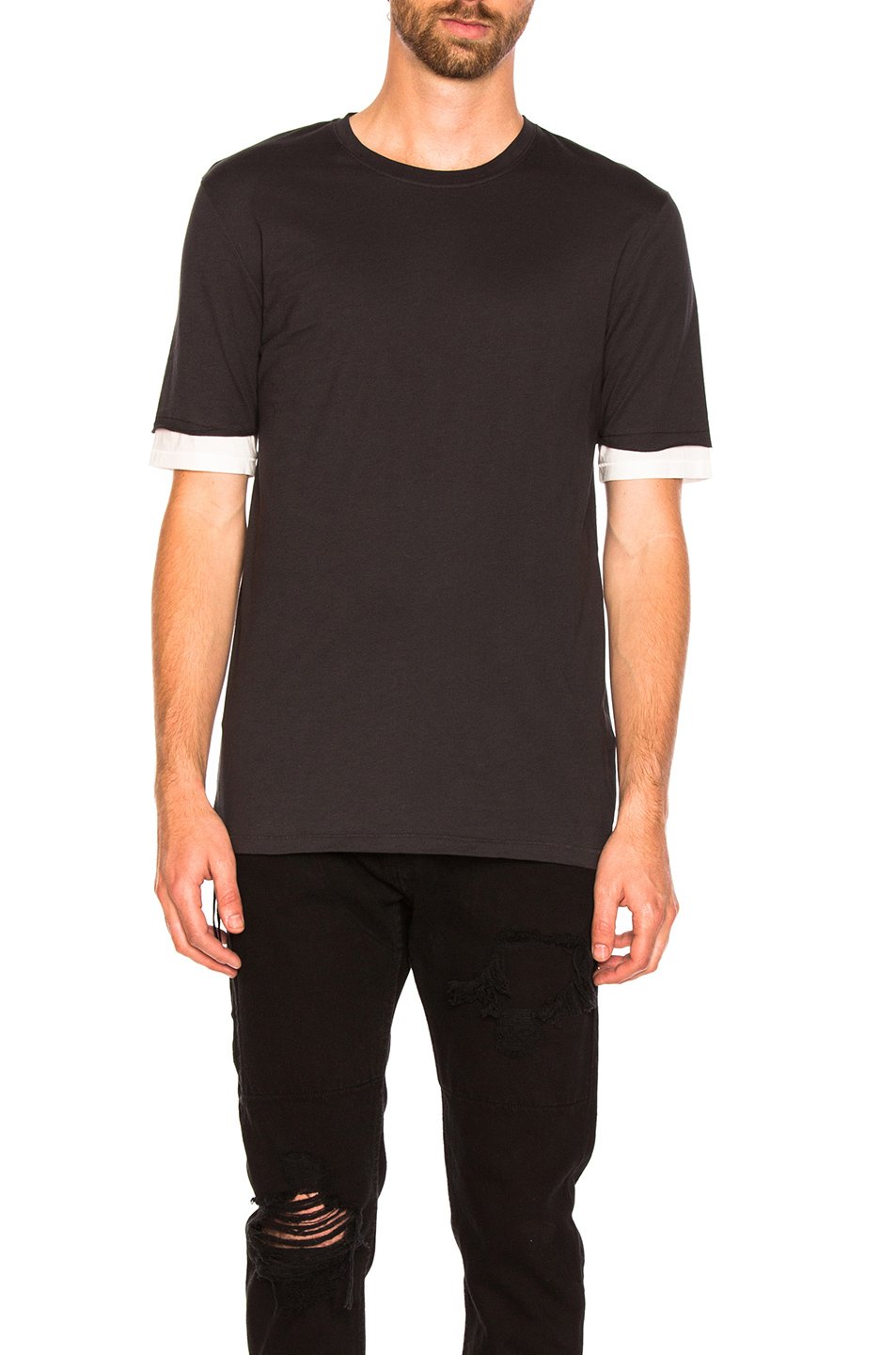 3.1 phillip lim Double Layer Tee in Black