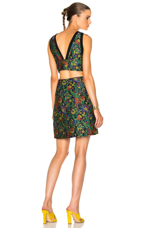 3.1 phillip lim Floral Side Cut Dress in Flora,Black