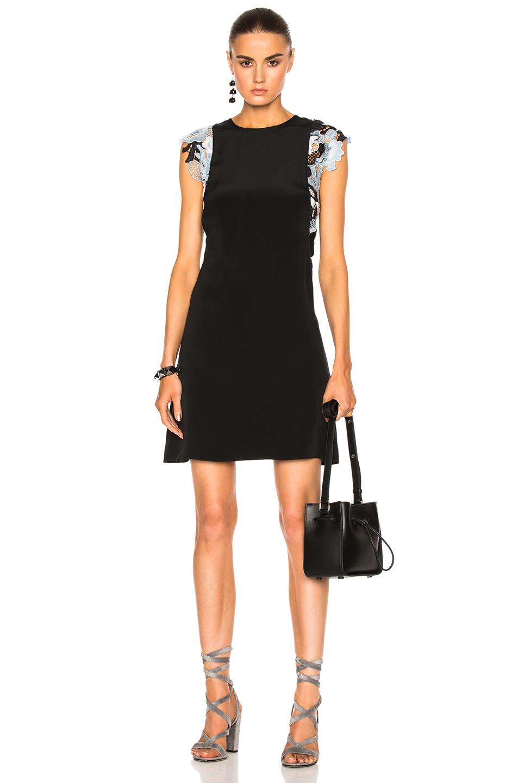 3.1 phillip lim Guipure Lace Dress in Black,Blue