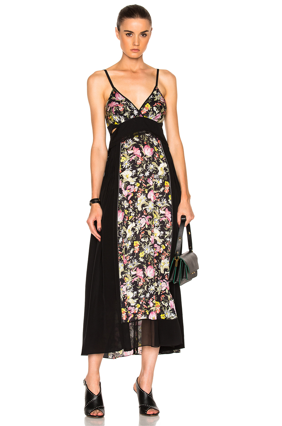 3.1 phillip lim Meadow Flower Maxi Dress in Black,Floral,Pink,Yellow