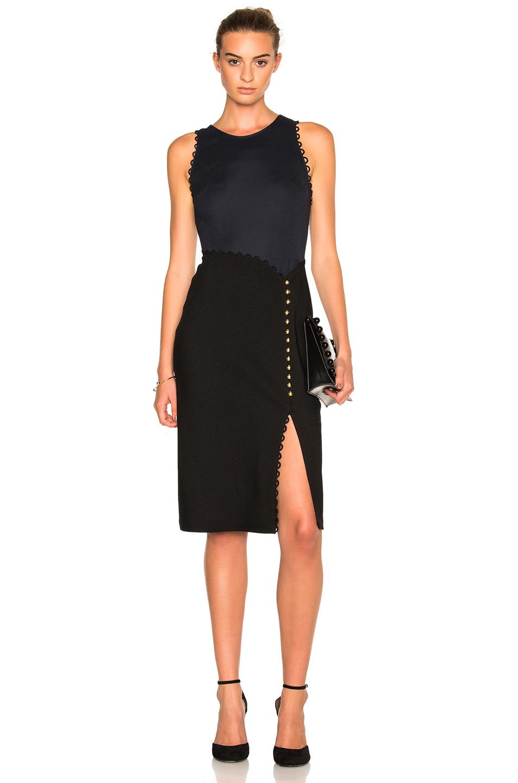 3.1 phillip lim Button Sleeveless Dress in Black