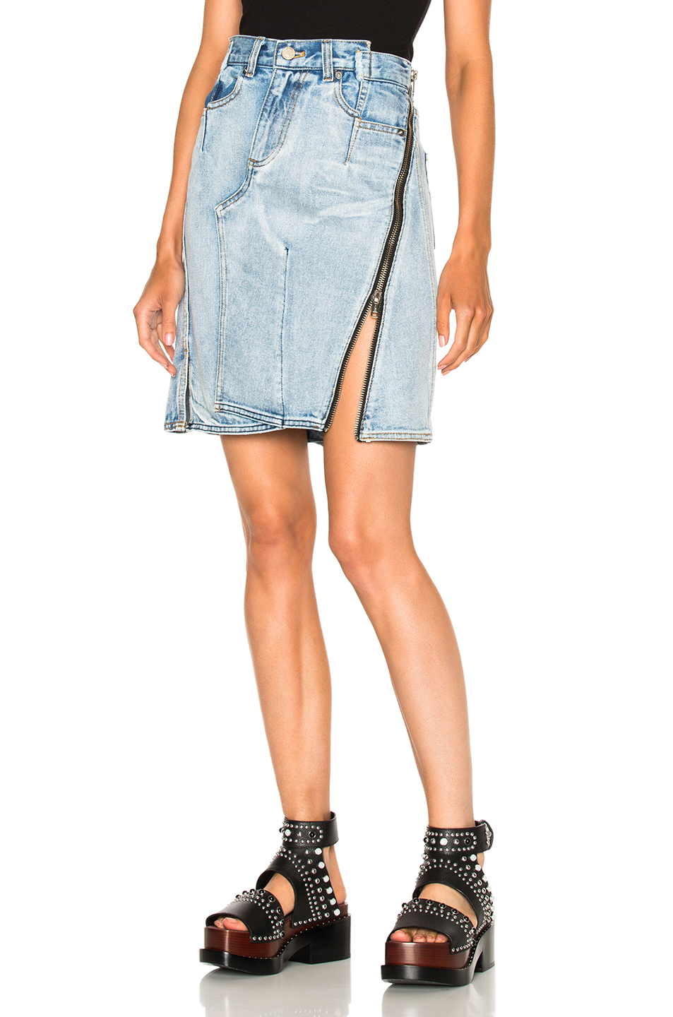 3.1 phillip lim Asymmetrical Skirt with Zipper in Blue