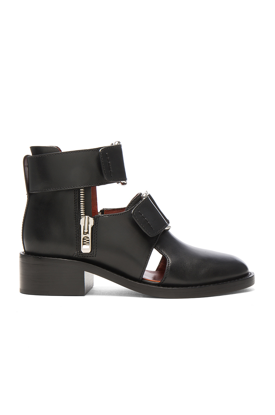 Photo of 3.1 phillip lim Leather Addis Cut Out Boots in Black shop 3.1 phillip lim shoes