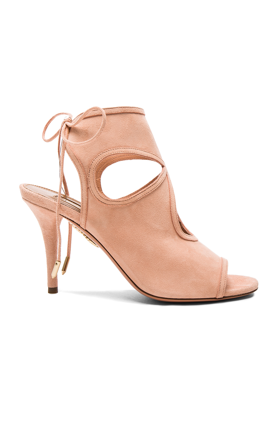 Aquazzura Suede Sexy Thing Heels in Pink