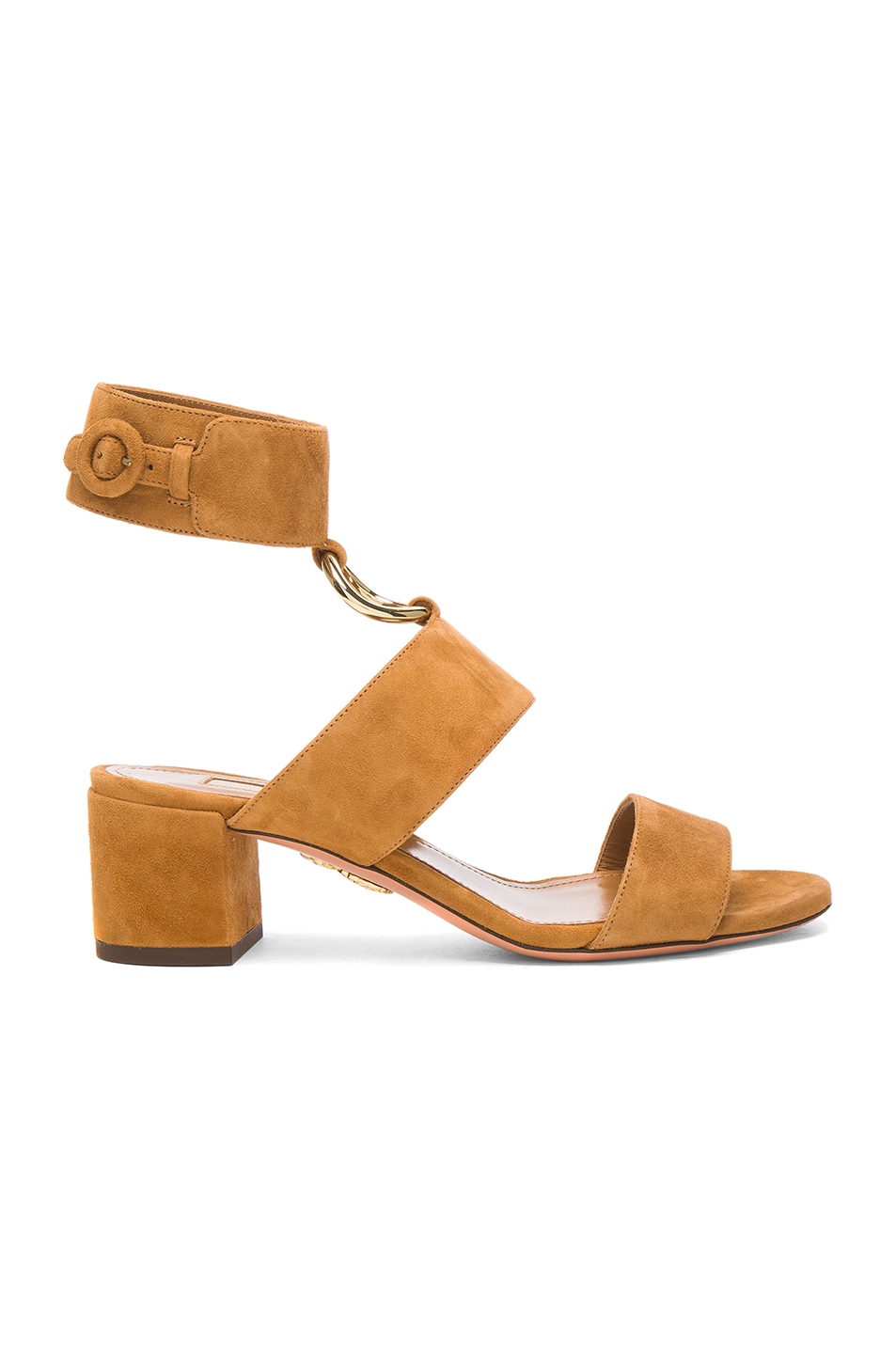 Aquazzura Suede Safari Sandals in Brown