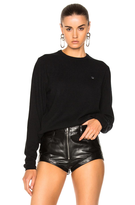 Acne Studios Dasher Face Sweater in Black