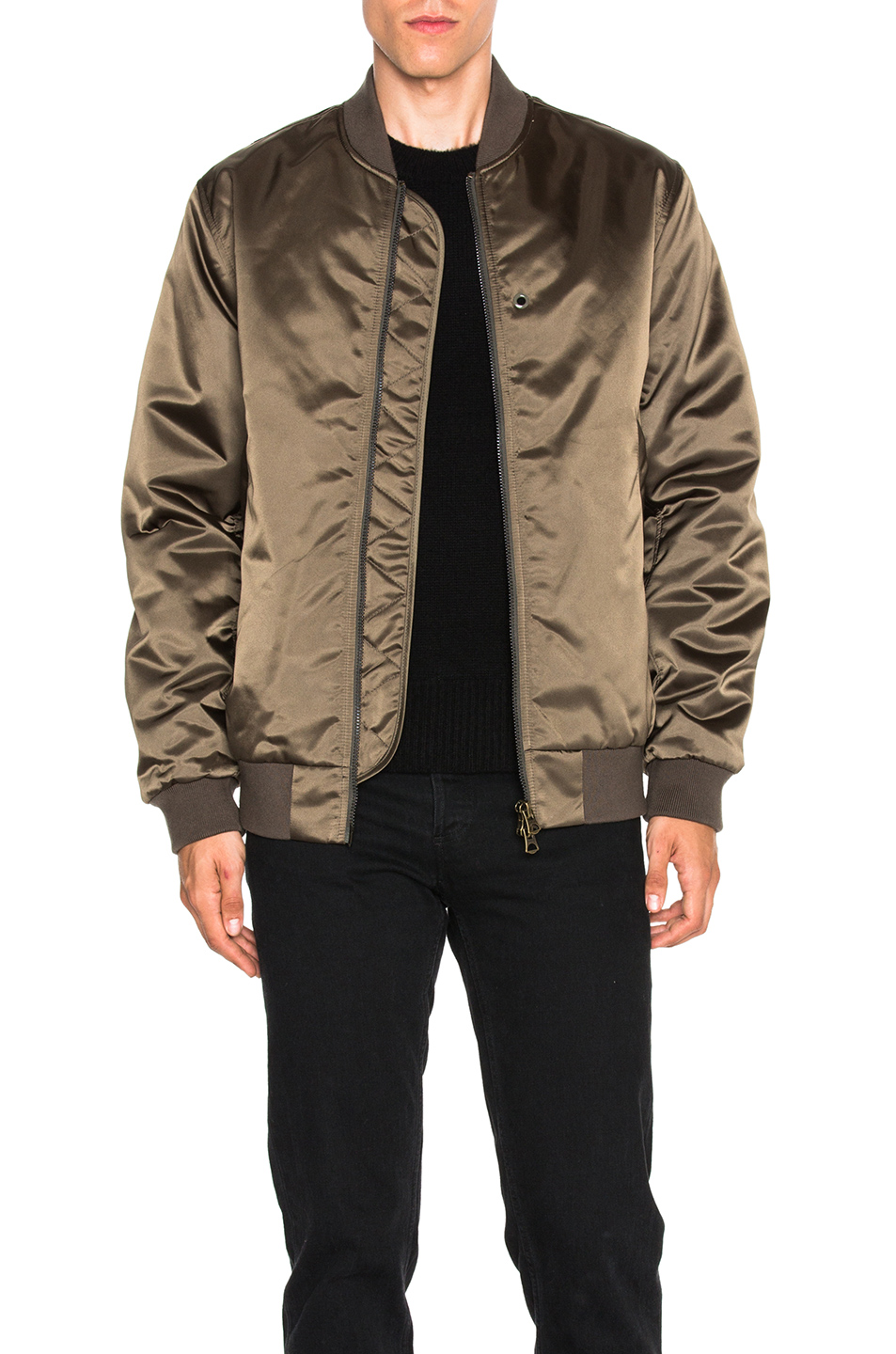 Photo of Acne Studios Selo Bomber Jacket in Green - shop Acne Studios menswear