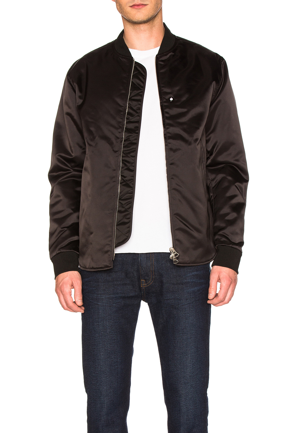 Acne Studios Nylon Bomber Jacket in Black