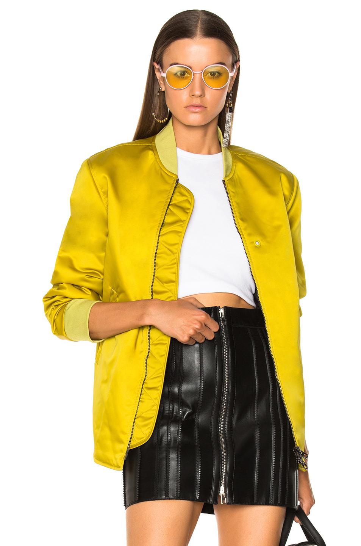 Acne Studios Mylon Matt Bomber Jacket in Yellow