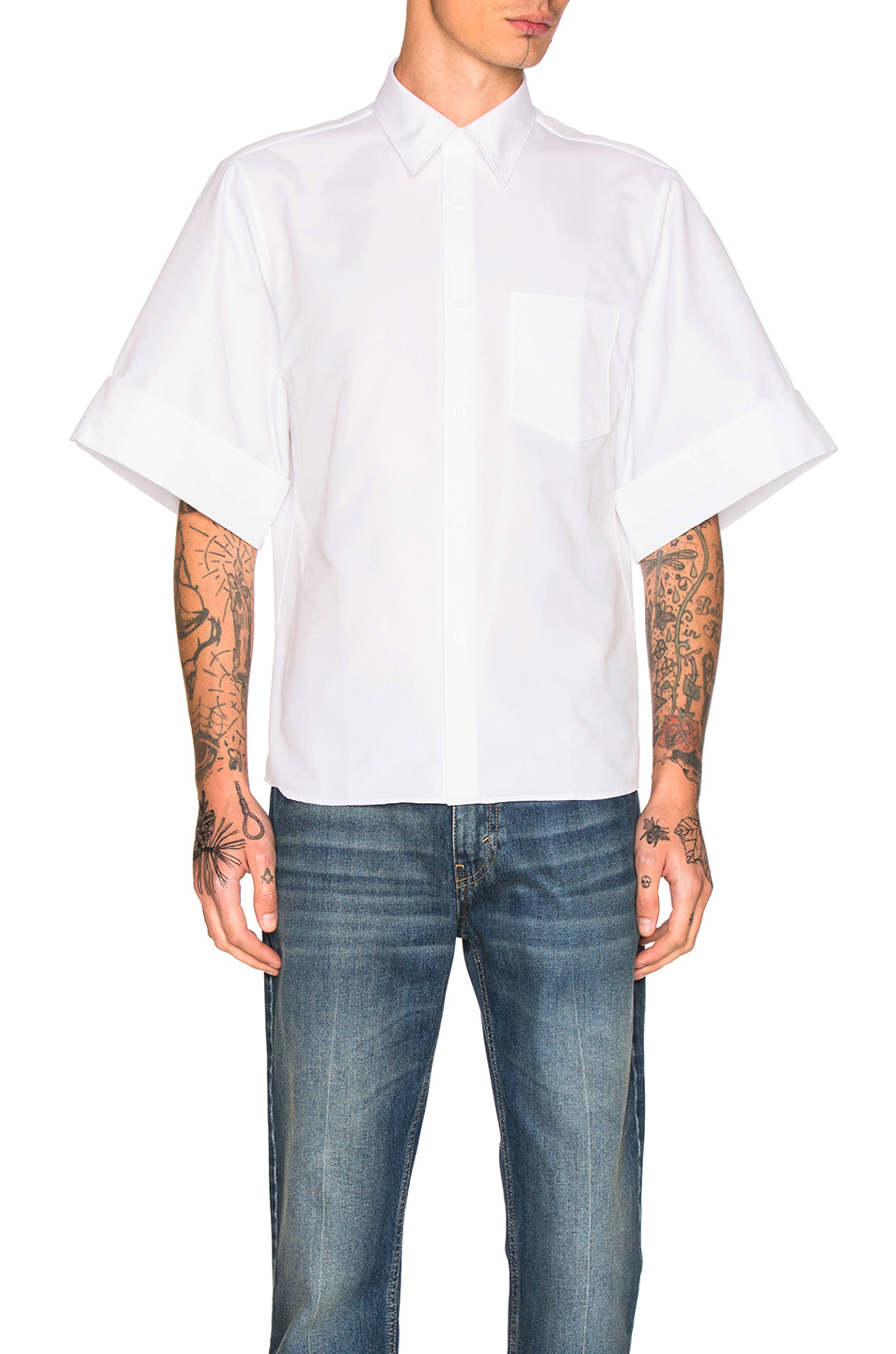 Acne Studios Birch Cotton Shirt in White