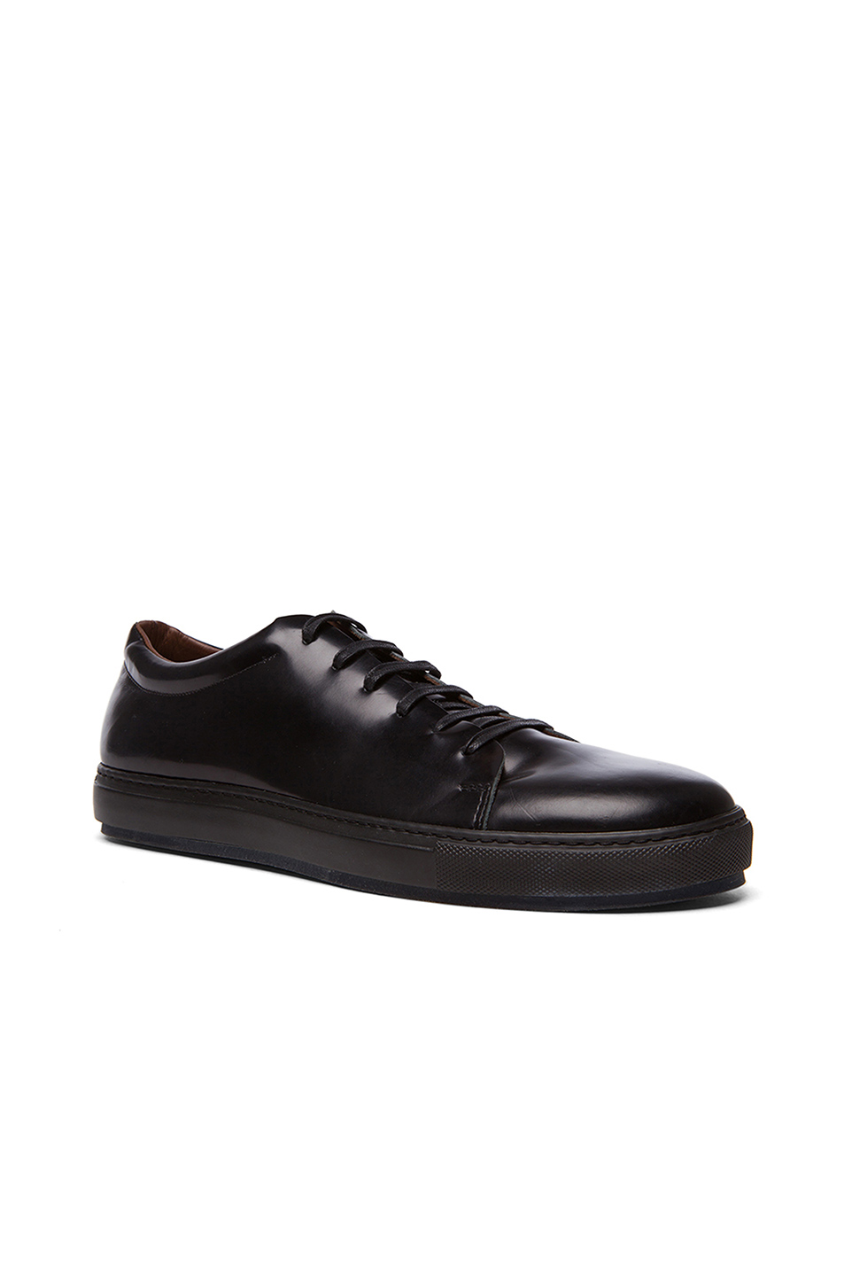 Acne Studios Adrian Calfskin Leather Sneakers in Black