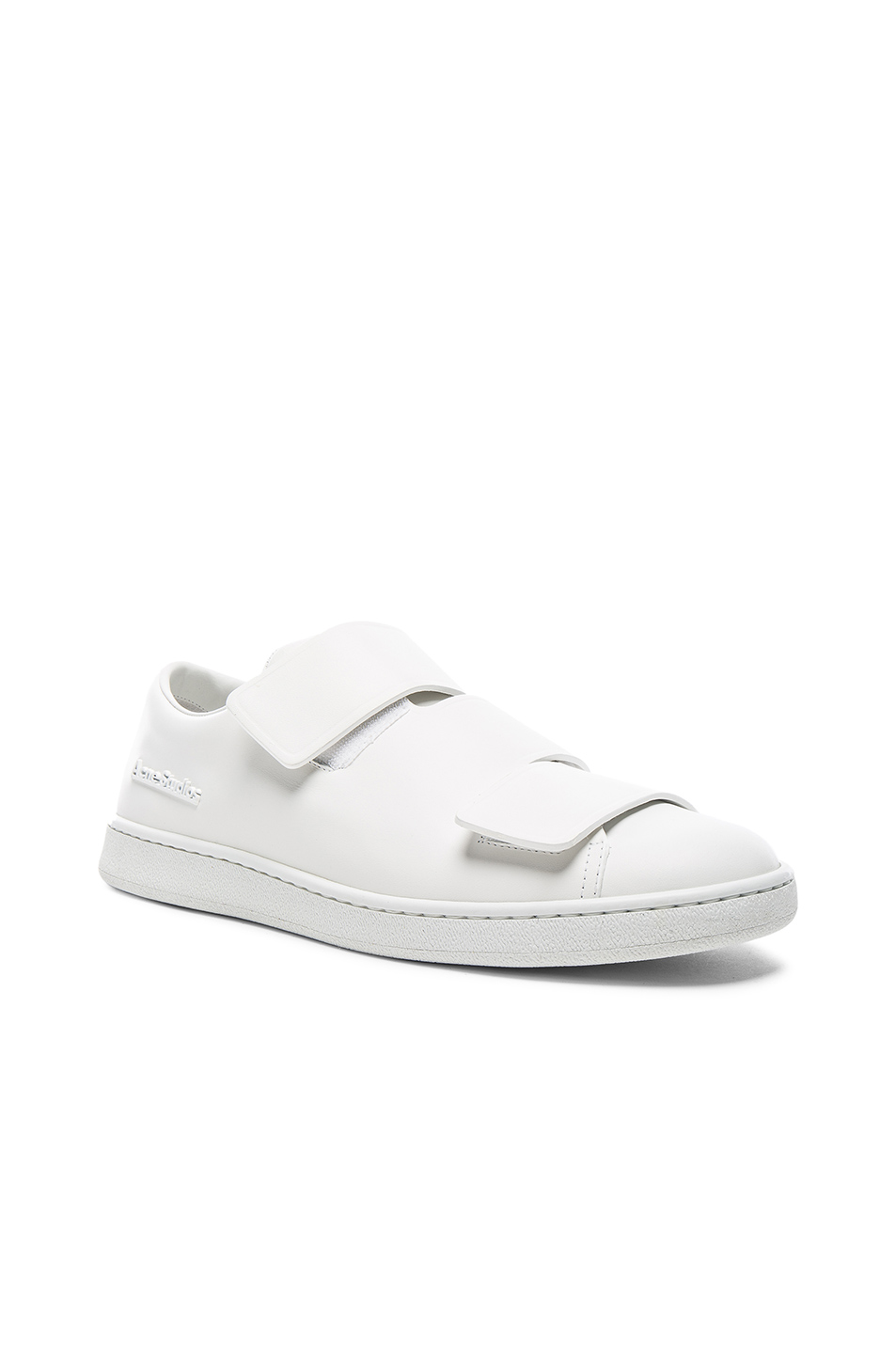 Acne Studios Leather Triple Lo Sneakers in White