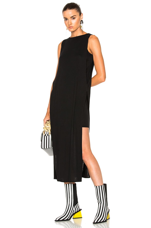 Acne Studios Ethel Tencel Jersey Midi Dress in Black