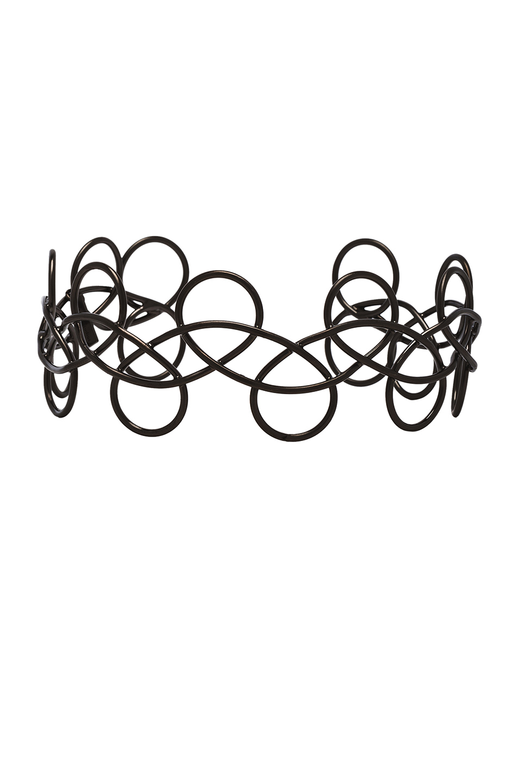 Acne Studios Fabi Large Necklace in Black,Metallics