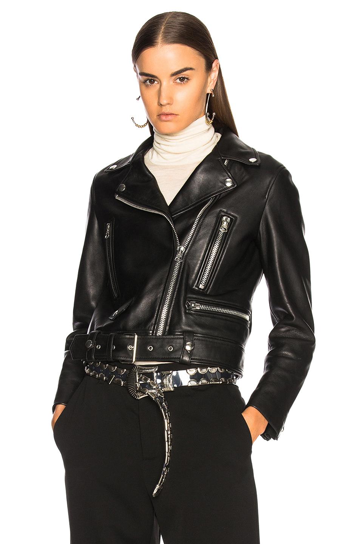 Acne Studios Mock Leather Jacket in Black