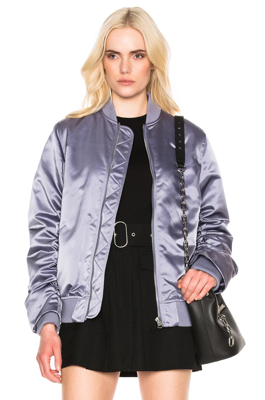 Acne Studios Leia Bomber Jacket in Purple