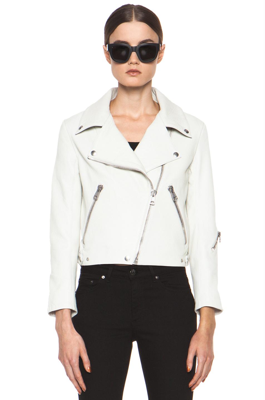 White leather jackets
