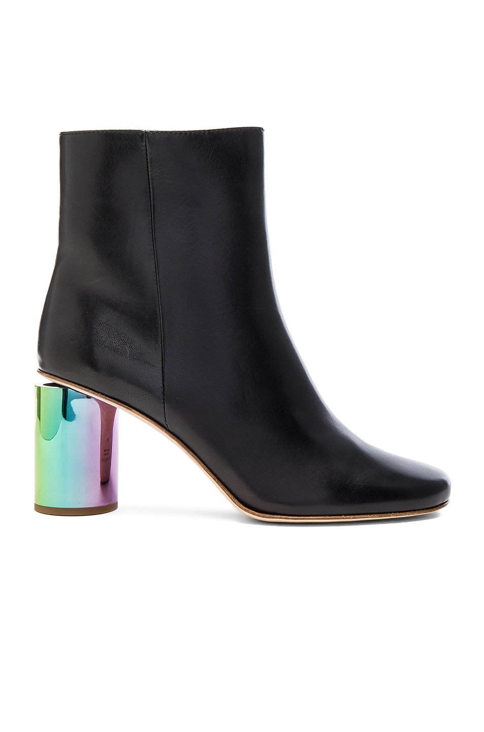 Acne Studios Leather Althea Booties in Black