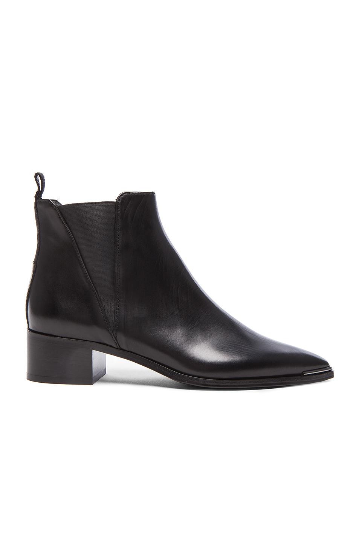 Acne Studios Jensen Leather Booties in Black