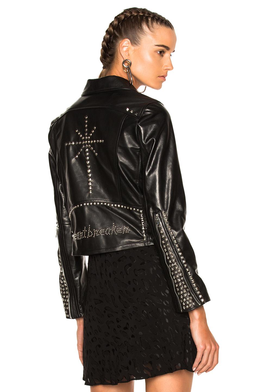 Adaptation Heartbreaker Leather Jacket in Black
