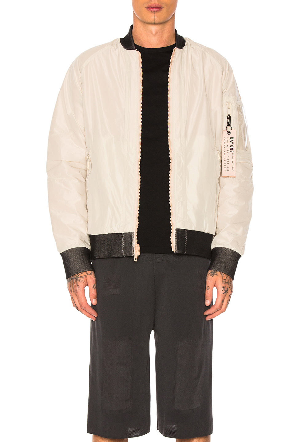 adidas Day One Reversible Bomber in Gray,Neutrals