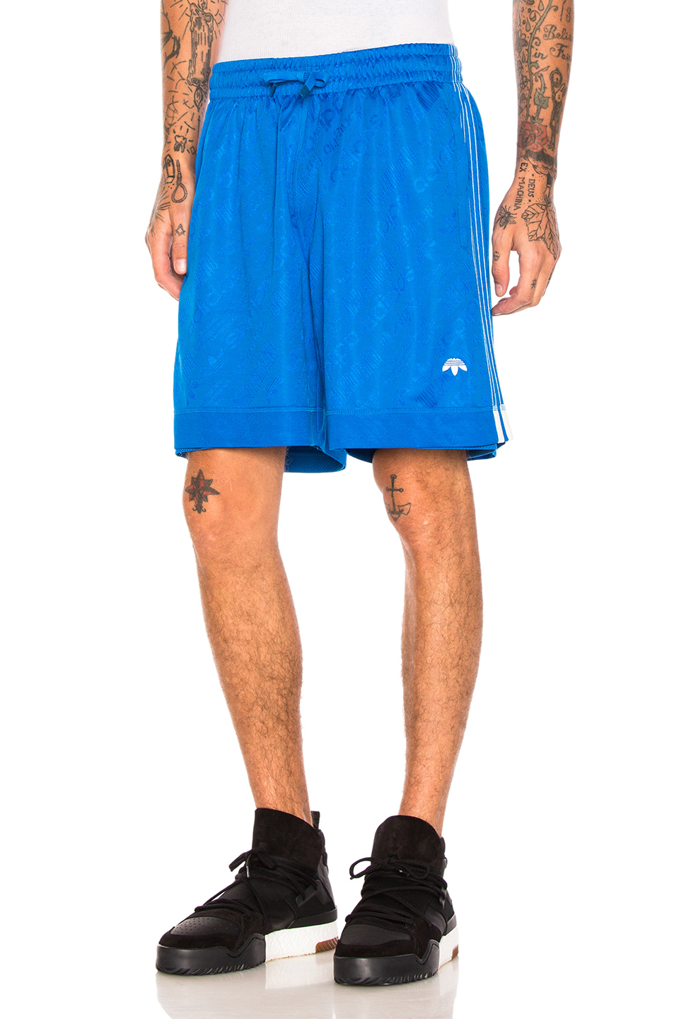 adidas by Alexander Wang Soccer Shorts in Blue